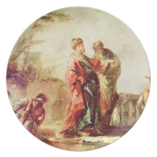 The Marriage of Tobias, detail from a series of pa Plate