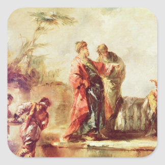 The Marriage of Tobias, detail from a series of pa Square Sticker