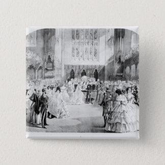 The Marriage of Victoria 15 Cm Square Badge