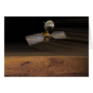 The Mars Reconnaissance Orbiter Reducing Speed Greeting Card