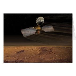 The Mars Reconnaissance Orbiter Reducing Speed Greeting Card
