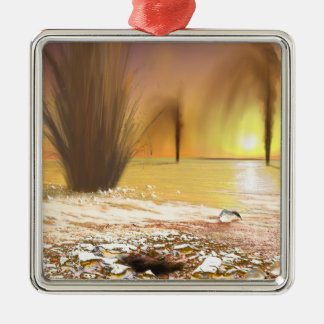 The Martian south polar ice cap Christmas Ornament