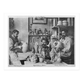 The Martin brothers in the studio at the Southall Postcard