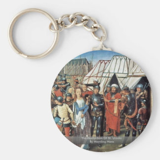 The Martyrdom Of St. Ursula By Memling Hans Key Chain