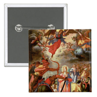The Martyrdom of St. Ursula, early 17th century 15 Cm Square Badge