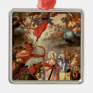 The Martyrdom of St. Ursula, early 17th century Christmas Ornament