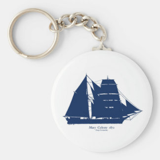 The Mary Celeste 1872 by tony fernandes Basic Round Button Key Ring