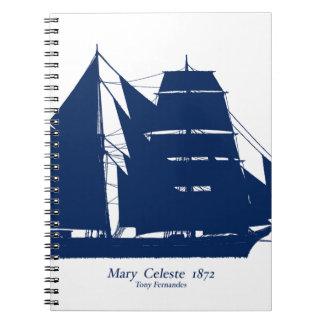 The Mary Celeste 1872 by tony fernandes Notebook
