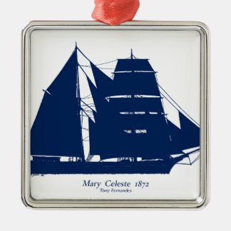 The Mary Celeste 1872 by tony fernandes Silver-Colored Square Decoration