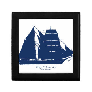 The Mary Celeste 1872 by tony fernandes Small Square Gift Box