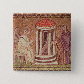 The Marys at the Tomb 15 Cm Square Badge