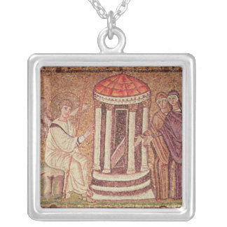 The Marys at the Tomb Silver Plated Necklace