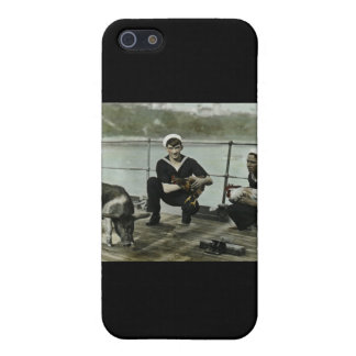 The Mascots Vintage WWII Sailor Rooster Pig iPhone 5 Covers