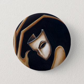 the mask 6 cm round badge