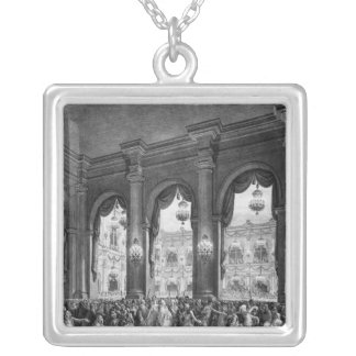 The masked ball, 23rd January 1782 Silver Plated Necklace