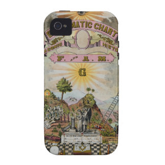 The Masonic Chart Case-Mate iPhone 4 Cases