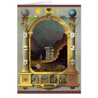 The Masonic Chart Greeting Card