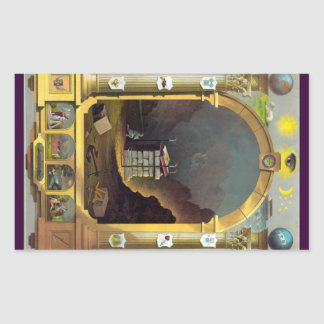 The Masonic Chart Rectangular Sticker