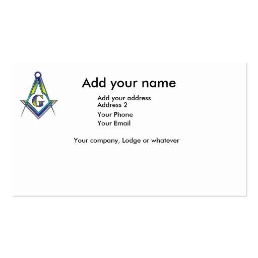 The Masoniic Card Business Card