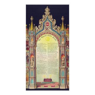 The Masons' Lord's Prayer by Huncke 1892 Photo Card Template
