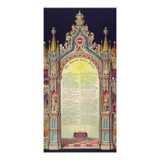 The Masons' Lord's Prayer by Huncke 1892 Photo Card Template