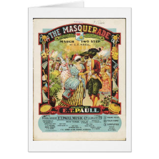 The Masquerade Sheet Music, Greeting Card