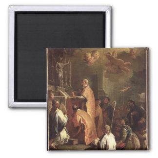 The Mass of St. Gregory Fridge Magnet