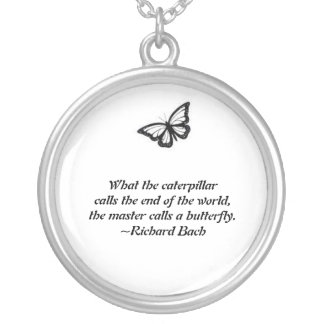 the master calls the butterfly round pendant necklace