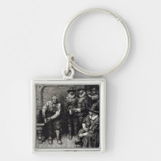 The Master Caused us to have some Beere' Silver-Colored Square Key Ring