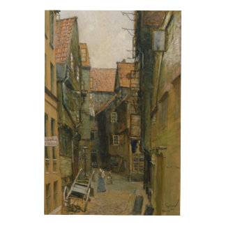 The Matthiasstrasse in Hamburg, 1891 Wood Wall Decor