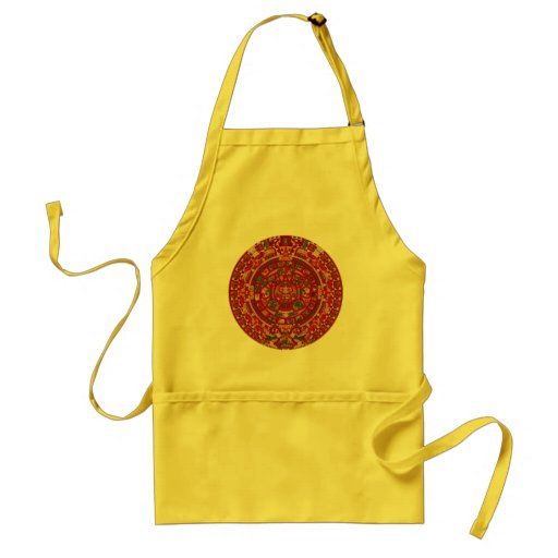 The Mayan (Aztec) Calendar Wheel Adult Apron