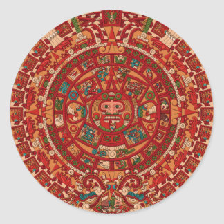 The Mayan / (Aztec) calendar wheel Classic Round Sticker