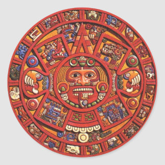 The Mayan Calendar Classic Round Sticker