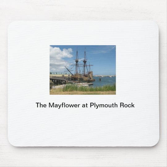 The Mayflower at Plymouth Rock Mouse Mat