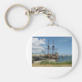 The Mayflower Basic Round Button Key Ring