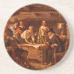 The Mayflower Compact by Jean Leon Gerome Ferris Beverage Coasters