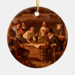 The Mayflower Compact by Jean Leon Gerome Ferris Christmas Ornaments