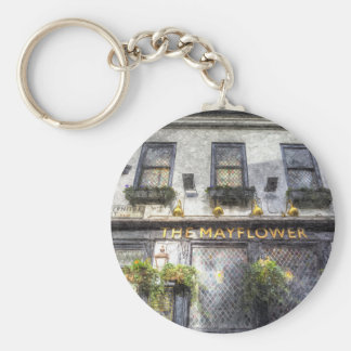 The Mayflower Pub London Art Basic Round Button Key Ring