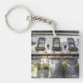 The Mayflower Pub London Art Single-Sided Square Acrylic Key Ring