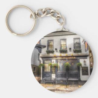 The Mayflower Pub London Basic Round Button Key Ring