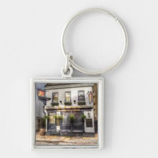 The Mayflower Pub London Silver-Colored Square Key Ring
