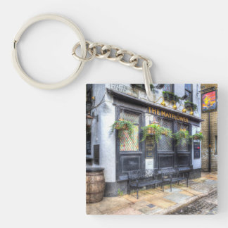 The Mayflower Pub London Single-Sided Square Acrylic Key Ring