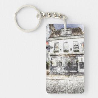 The Mayflower Pub London Snow Double-Sided Rectangular Acrylic Key Ring