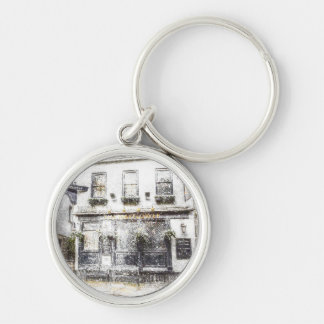 The Mayflower Pub London Snow Silver-Colored Round Key Ring