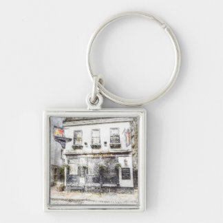 The Mayflower Pub London Snow Silver-Colored Square Key Ring