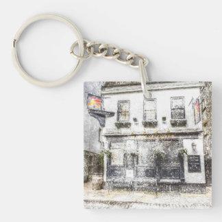The Mayflower Pub London Snow Single-Sided Square Acrylic Key Ring