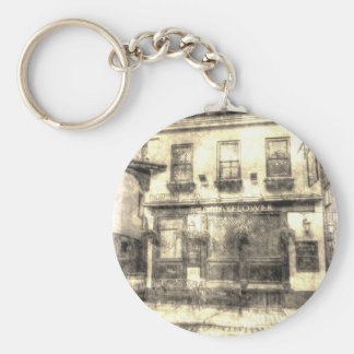 The Mayflower Pub London Vintage Basic Round Button Key Ring