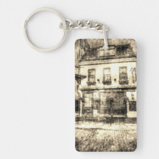 The Mayflower Pub London Vintage Double-Sided Rectangular Acrylic Key Ring