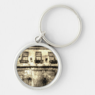 The Mayflower Pub London Vintage Silver-Colored Round Key Ring