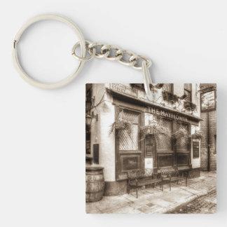 The Mayflower Pub London Vintage Single-Sided Square Acrylic Key Ring
